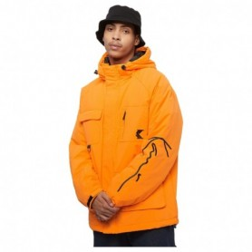 Karl Kani Kk Signature Padded Utility Jacket Orange
